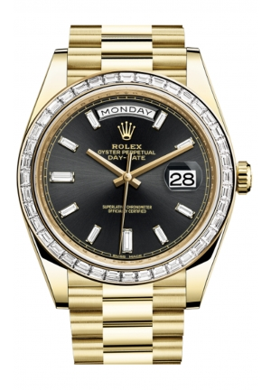 DAY-DATE 40 OYSTER YELLOW GOLD AND DIAMONDS 228398TBR-0001, 40MM
