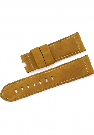 22mm Asso Calf Leather Watch Band Mens Strap