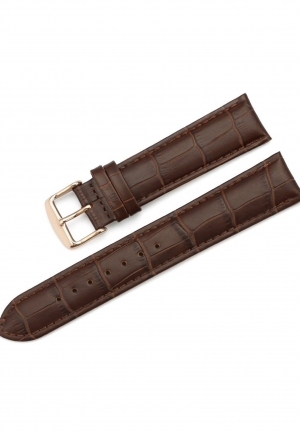 22mm Calfskin Replacement Watch Band With Rose Gold Pin