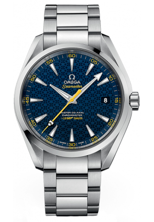 OMEGA Seamaster James Bond Limited Edition Aqua Terra Blue Dial Stainless Steel Automatic Men's Watch 231.10.42.21.03.004