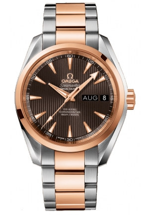 SEAMASTER AQUA TERRA 150M OMEGA CO-AXIAL 18K RED GOLD MEN'S WATCH 23120392206001, 38.5MM