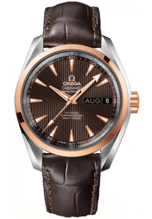 SEAMASTER AQUA TERRA 150M OMEGA CO-AXIAL 18K RED GOLD BENZEL MEN'S WATCH  23123392206001