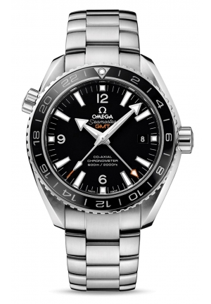 SEAMASTER PLANET OCEAN GMT BLACK DIAL STEEL MEN'S WATCH 23230442201001, 43.5MM