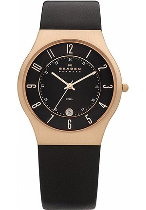 Men's Black Leather Strap 38mm