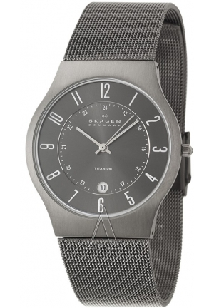 Skagen Watch, Men's Titanium Bracelet 37mm