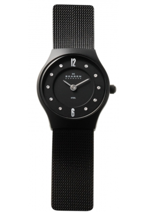 Skagen Steel Analog Black Dial Women's Watch 233XSBSB