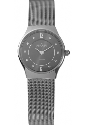 Skagen Women's Grenen Quartz 2 Hand Titanium Gray Watch