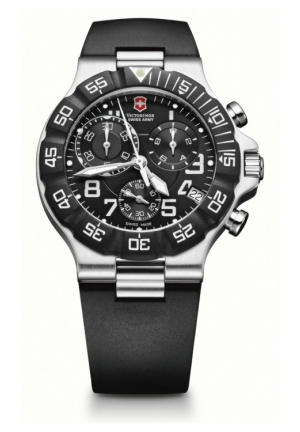 VICTORINOX SWISS ARMY Men's Summit XLT Analog Quartz Black Watch 241336 42mm