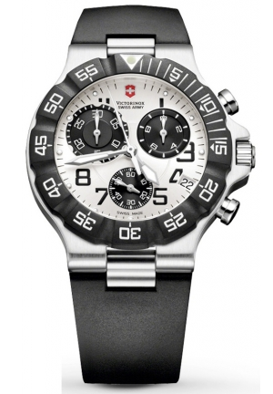 VICTORINOX SWISS ARMY Men's Victorinox Swiss Army Summit XLT Chrono Watch Silver Dial Watch 241338 42mm