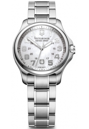 VICTORINOX SWISS ARMY Women's Officers Ladies Mother-of-Pearl Dial Watch 241365 32mm