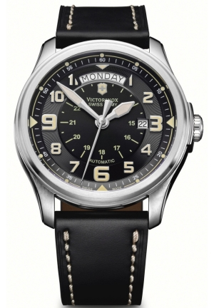 VICTORINOX SWISS ARMY Men's Infantry Vintage Day and Date Mecha Watch 241397 44mm