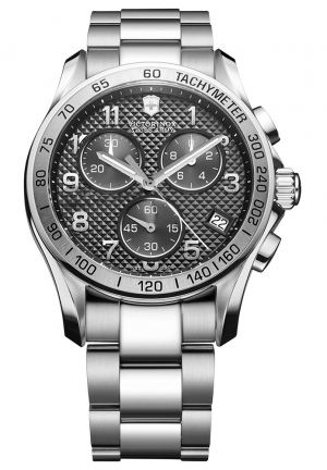VICTORINOX SWISS ARMY Men's Chronograph Stainless Steel Bracelet 241405 41mm