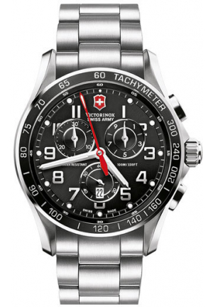 Victorinox Swiss Army Chron Classic Black Chronograph Dial Men's Watch 241443