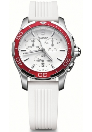 Women's Alliance White Chronograph Dial Watch 241504 37mm