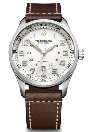 VICTORINOX SWISS ARMY Men's Air Boss Silver Dial Watch 241505 42mm