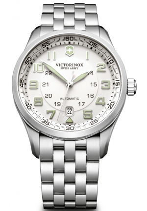 VICTORINOX SWISS ARMY Men's Air Boss Silver Dial Watch 241506 42mm