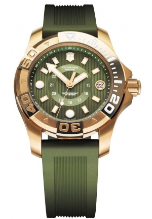 VICTORINOX SWISS ARMY Dive Master 500 Green Dial Ladies Watch 241557 38mm