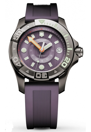 Men's Dive Master 500m Purple Rubber Strap 241558 38mm