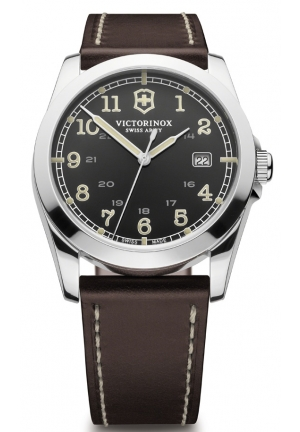 VICTORINOX SWISS ARMY Infantry Black Dial Mens Watch 241563 39mm