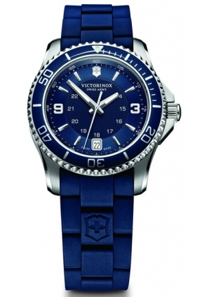 VICTORINOX SWISS ARMY Maverick GS Blue Dial Blue Rubber Ladies Watch 241610 34mm