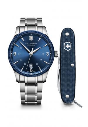 SWISS ARMY ALLIANCE BLUE DIAL MEN'S WATCH 241711.1, 40MM