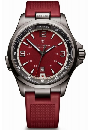 Victorinox Men's 'Night Vision' Swiss Quartz Stainless Steel Casual Watch 241717