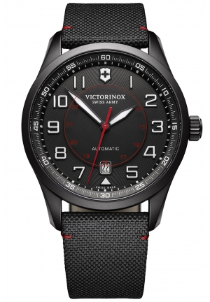VICTORINOX Airboss Automatic Black Dial Black Nylon Men's Watch 241720
