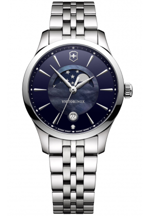ALLIANCE SMALL MOONPHASE STAINLESS LADIES WATCH 241752, 35MM