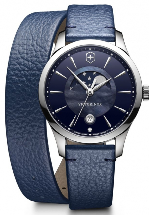 ALLIANCE SMALL MOON PHASE STAINLESS LADIES WATCH 241755, 35MM