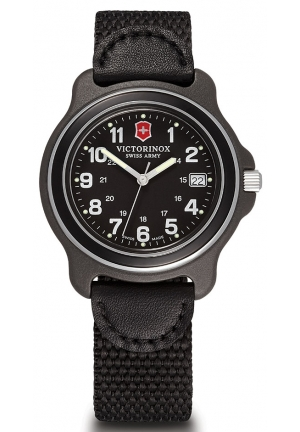 Victorinox Original Black Dial Black Nylon Strap Men's Watch 249090