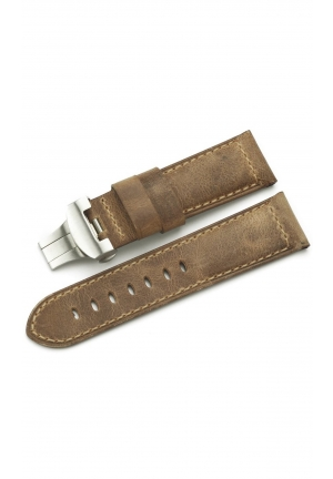 24mm Genuine Calf Leather Asso Watch Band