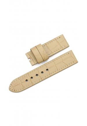 24mm Genuine Leather Tang Watch Band