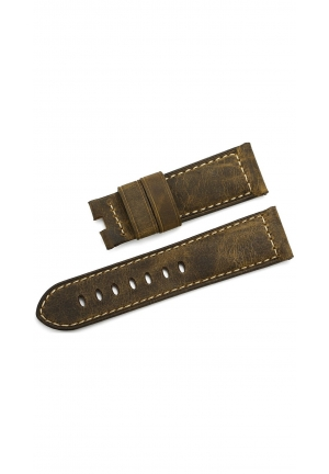 24mm Italy Vintage Assolutamente Calf Leather Watch Band