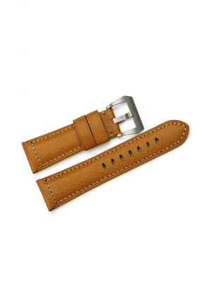 26 mm Hand Stitched Calf Leather Mens Replacement Watch Strap