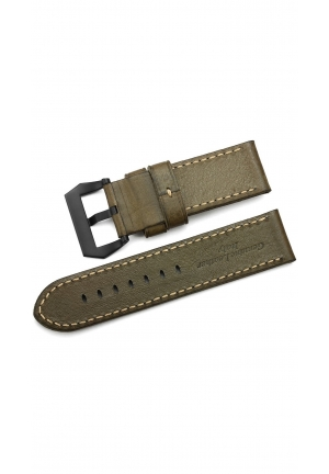 26mm Calf Leather Watch Band Thick Full Grain Replacement Strap