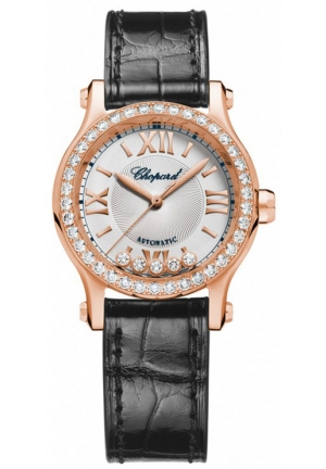 CHOPARD Happy Sport 18k rose gold and diamonds Automatic Watch, 30mm