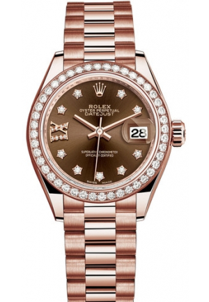 Lady-Datejust Everose gold and diamonds 279135rbr-0001, 28m