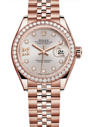 LADY-DATEJUST EVEROSE GOLD AND DIAMONDS 279135RBR-0004, 28MM