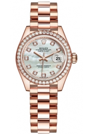 LADY DATEJUST WATCH 279135RBR MOP DIAMOND PRESIDENT , 28MM