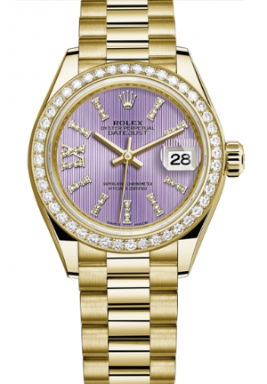 LADY-DATEJUST OYSTER YELLOW GOLD AND DIAMONDS 279138RBR-0010, 28MM