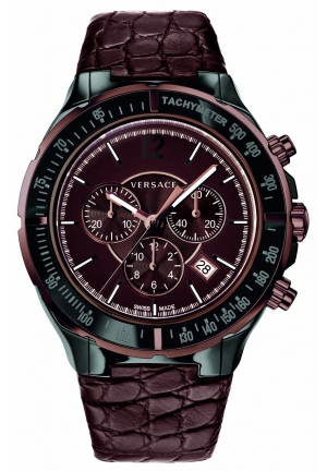 VERSACE DV One Cruise Chronograph Tachymeter Leather 42mm