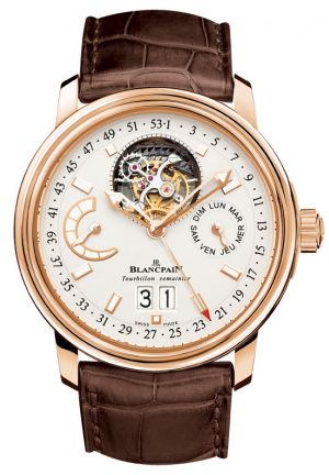 LEMAN GRANDE ROSE GOLD TOURBILLON MENS WATCH 40MM