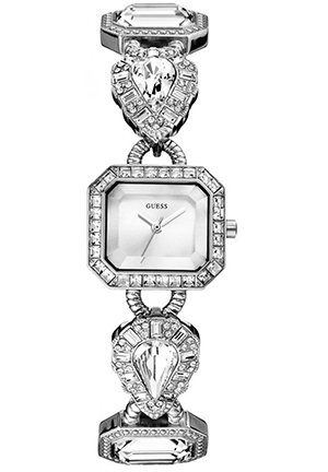 GUESS GUESS Silver-Tone Jeweled Watch 23mm