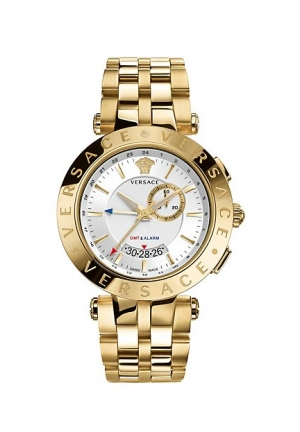 VERSACE V-Race GMT Alarm Gold 46mm,29G70D001-S070
