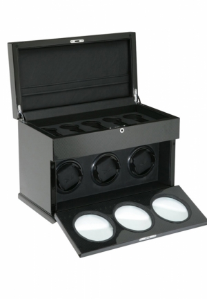 3 WATCH WINDER (CARBON FIBER)