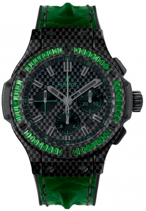HUBLOT Big Bang Carbon Bezel Baguette Tsavorites 44mm