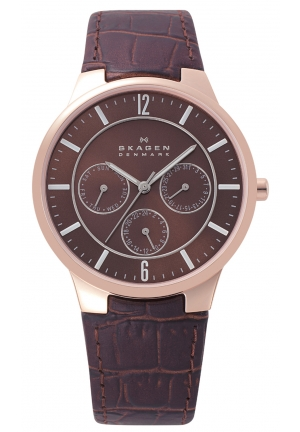 Skagen Brown/Maroon Analog Watch