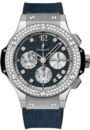 HUBLOT BIG BANG GLOSSY JEANS DIAMOND