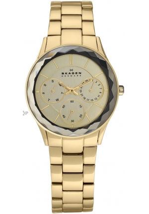 Skagen Champagne Dial Yellow Gold-tone Ladies Watch 344LGXG