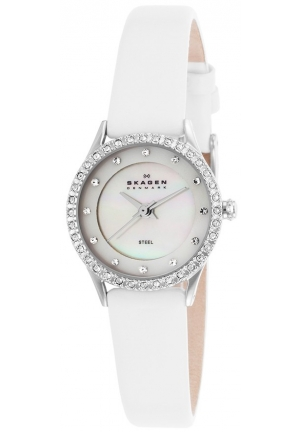 Mother of Pearl White Leather Ladies Watch